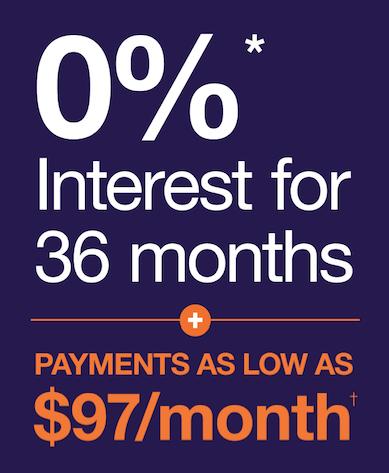 interest free financing offer