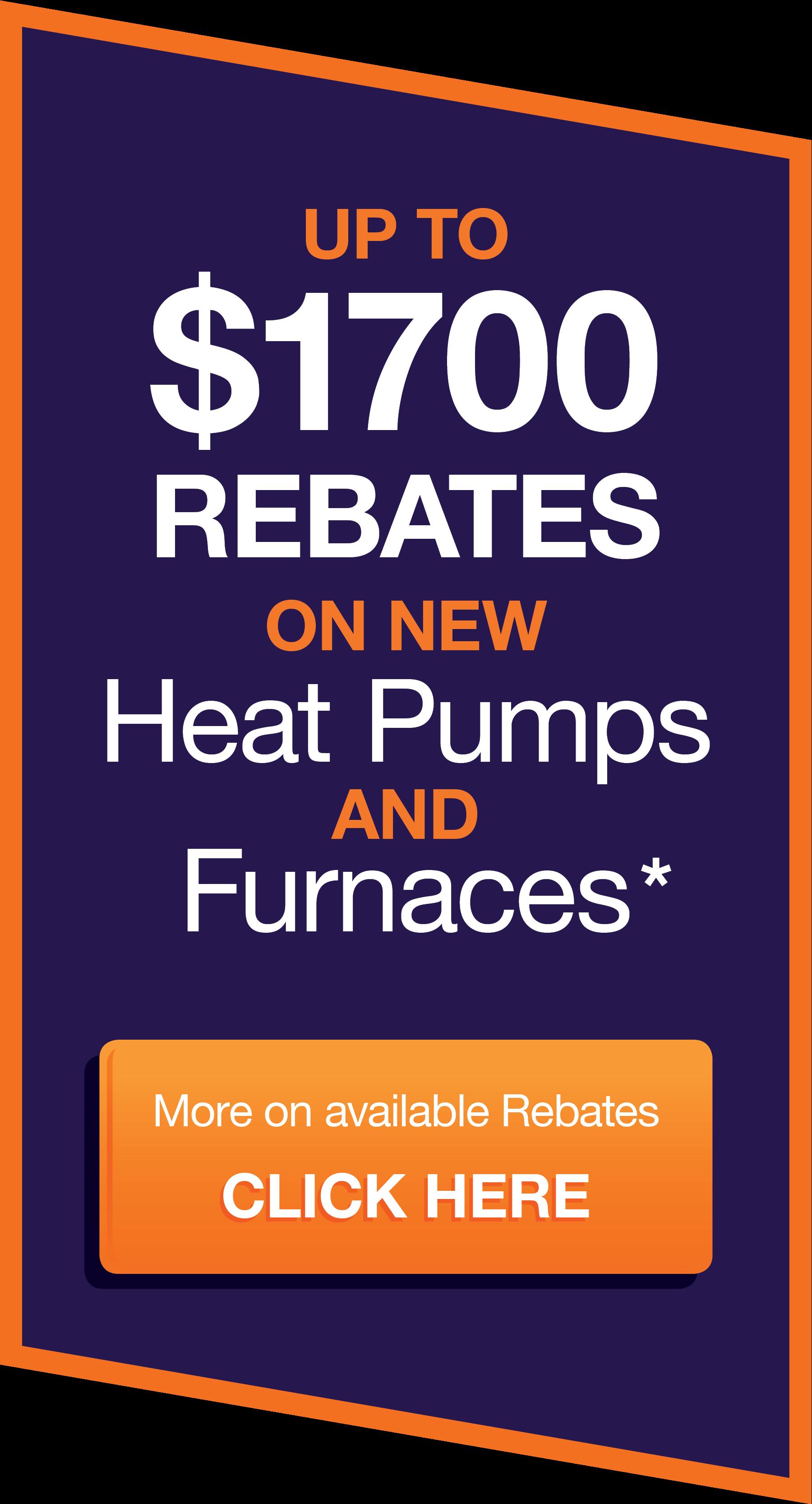 Heat Pump and Furnace Rebates